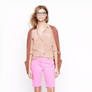 J. Crew Pink Broken-In Chino Shorts